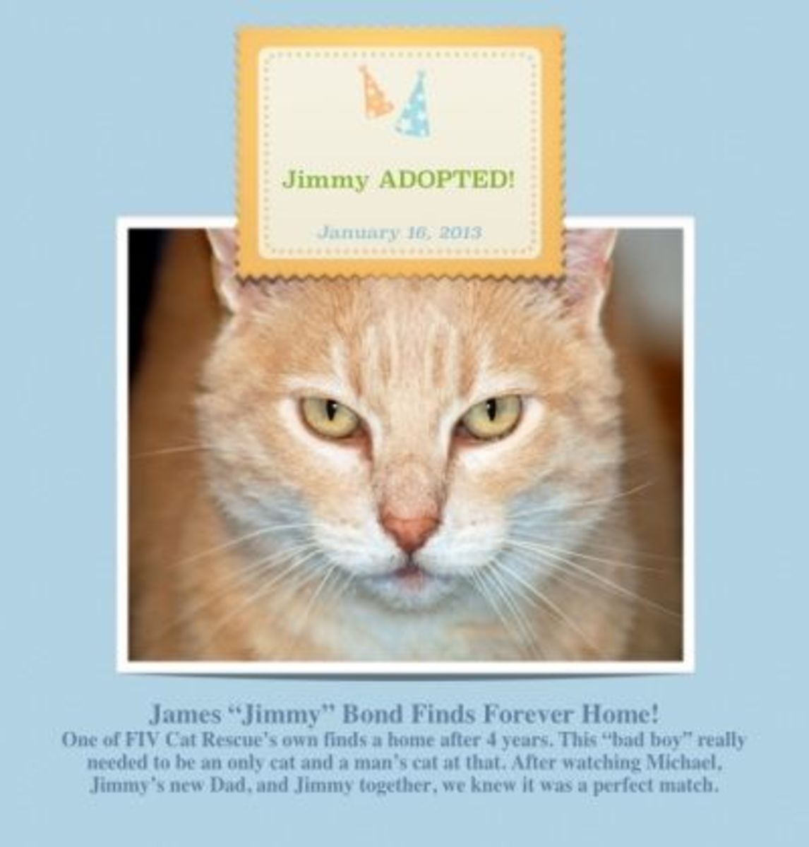 "ADOPTED 2013:  James ""Jimmy"" Bond"