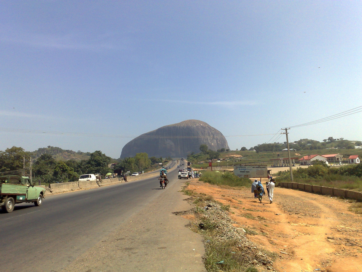Zuma rock near Nigeria's capital Abuja.  Photo by markhillary and shown using Creative Commons Attribution 2.0 License.
