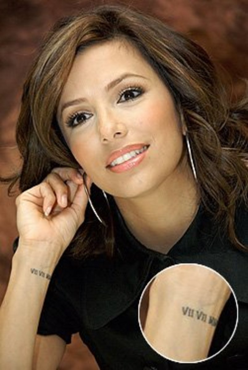 Eva Longoria's Wedding Date Tattoo [tvguide.com]