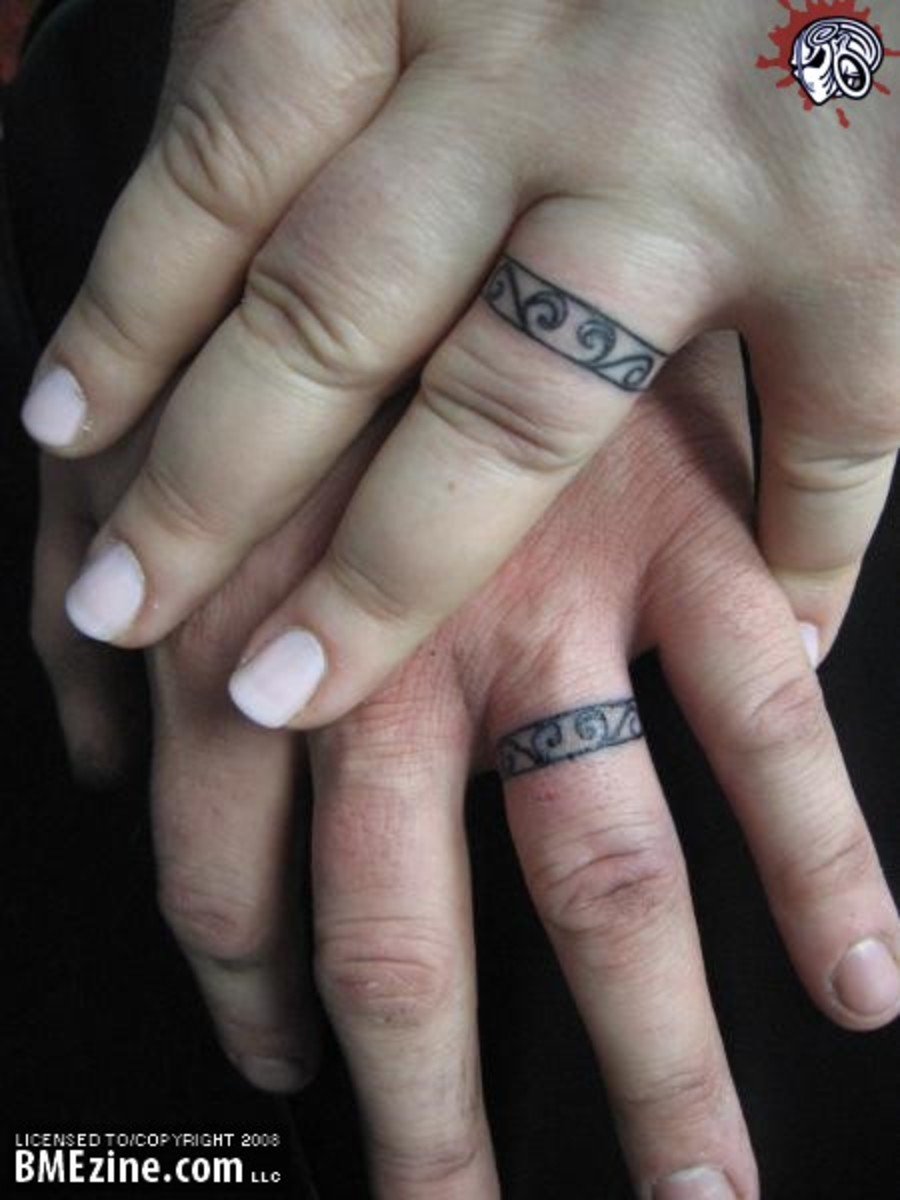 Wedding Ring Tattoo [bmezine.com]
