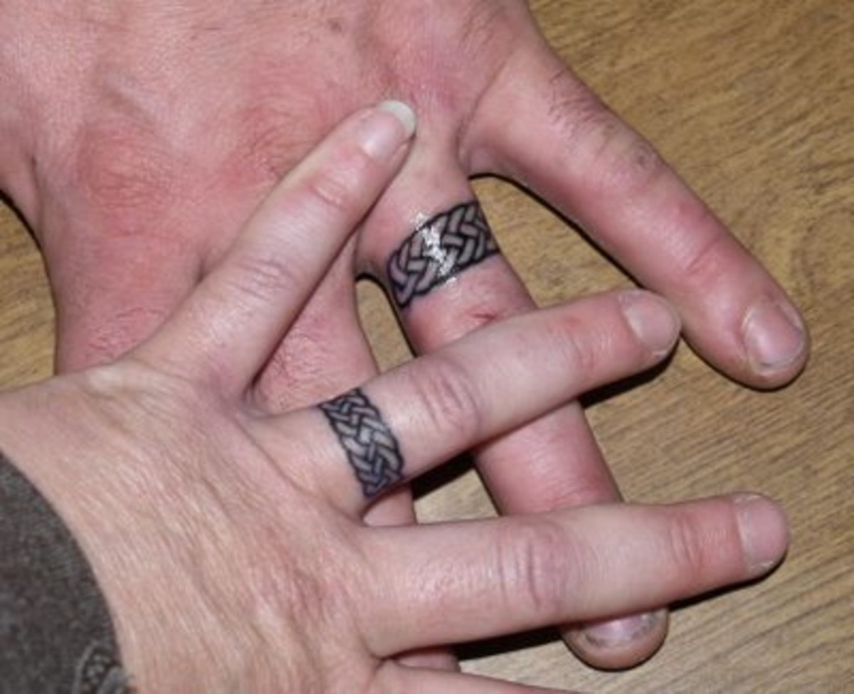 Celtic Wedding Ring Tattoo [http://www.tattoopicturesndesigns.com/2008/06/wedding-rings.html]