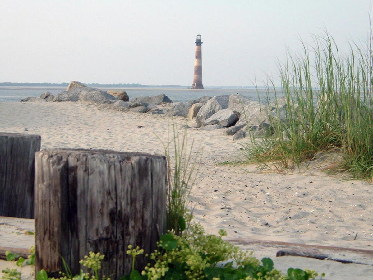 Folly Beach SC. This is at the end where the old Coast Guard Station used to be. The Morris Island Lighthouse is also at this end of the island.