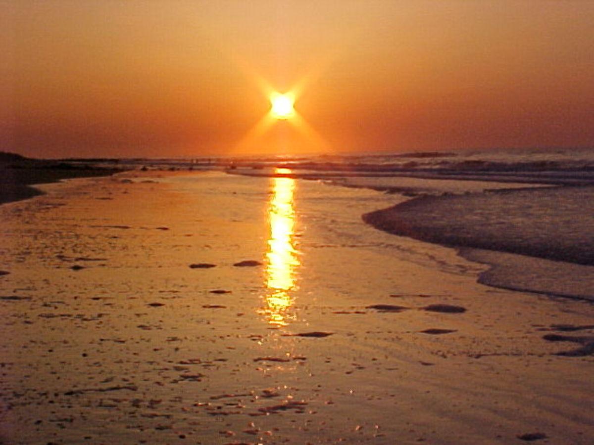 Folly Beach South Carolina Sun Rise