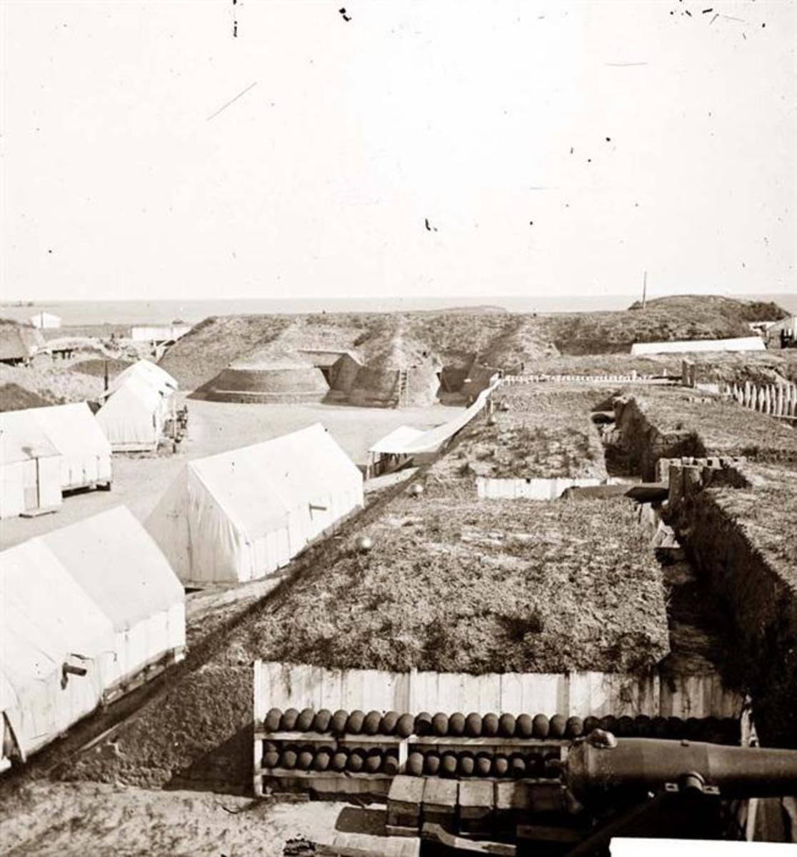 Real Photo Of Interior Of Fort Wagner