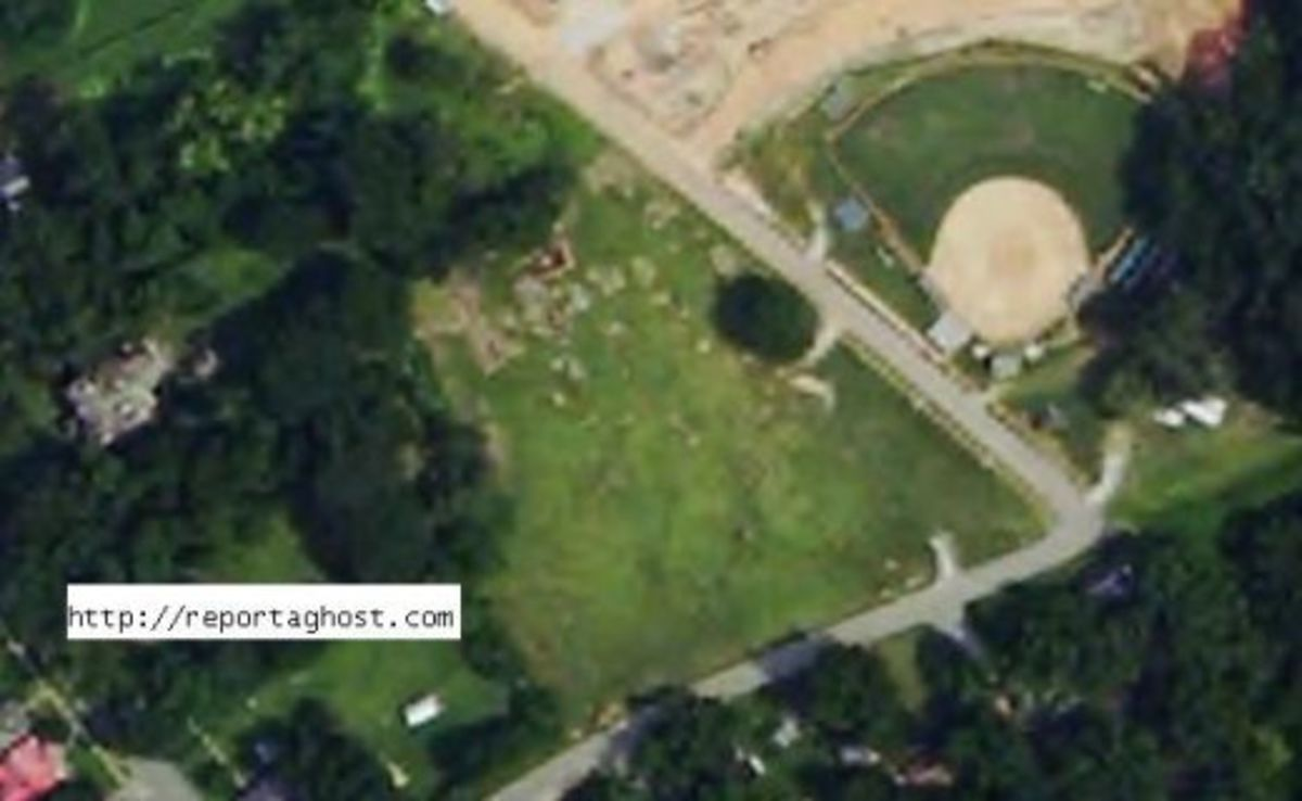 Graveyard and Ball Field From The Air