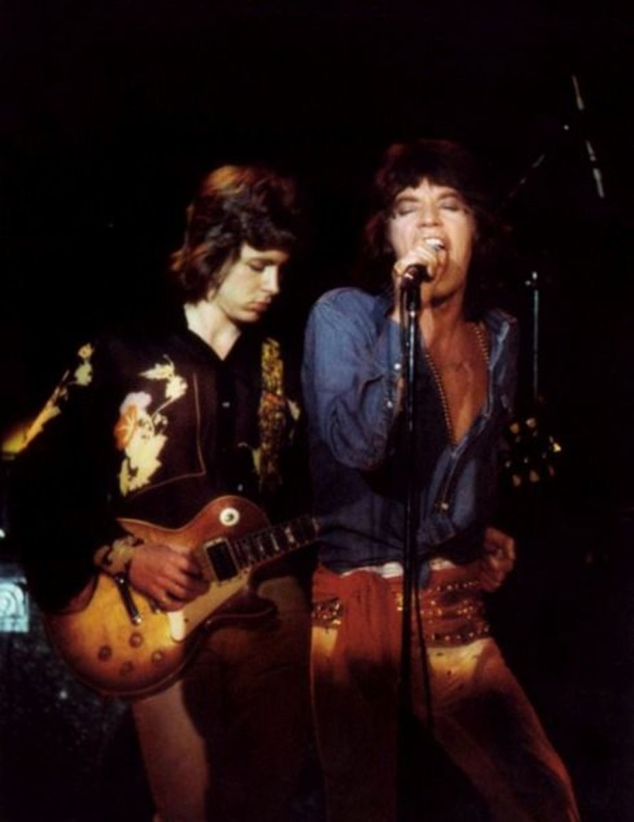 Mick Taylor (left) with Mick Jagger