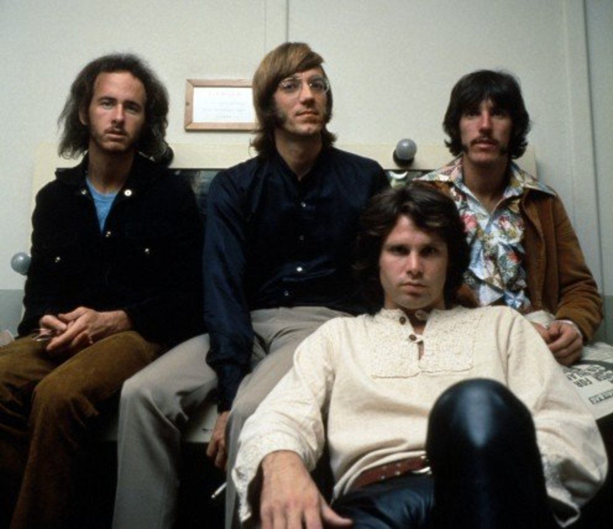 Robbie Krieger (upper left) with the Doors