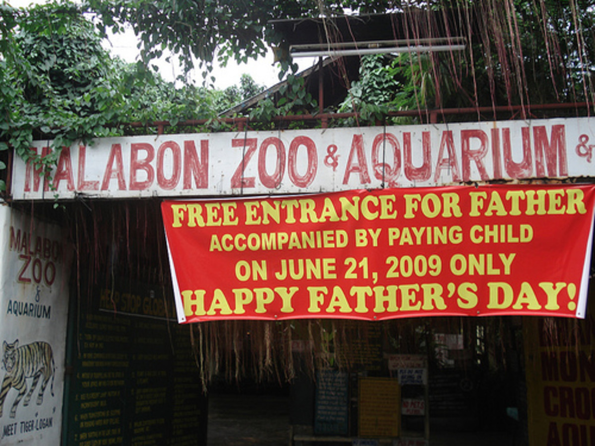 Malabon Zoo in Manila in the Philippines