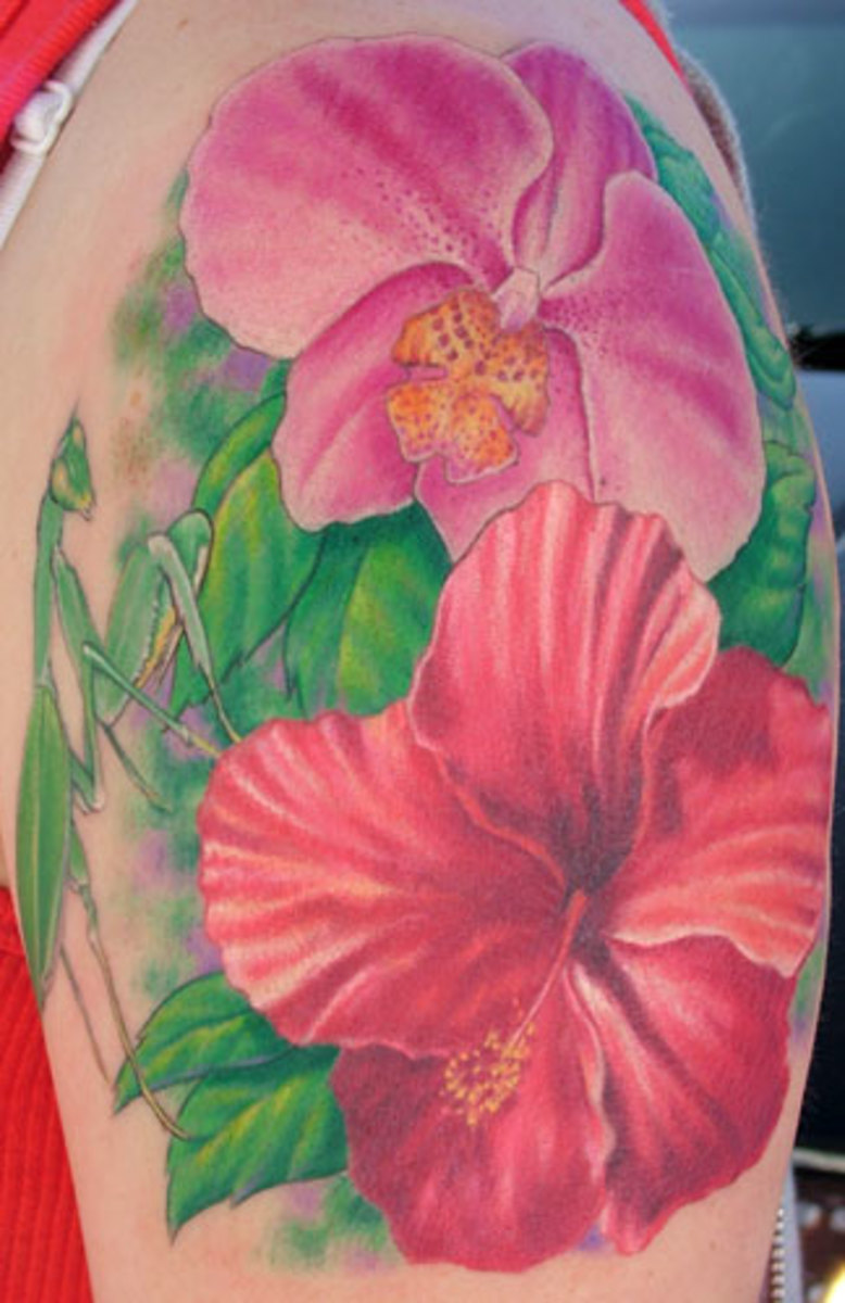 orchids tattoos. Orchid flower tattoo