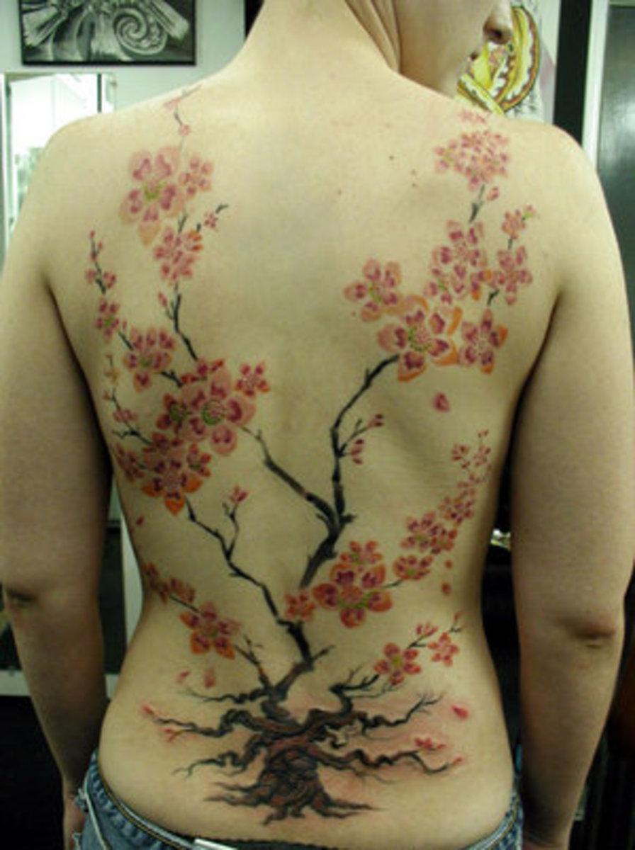 cherry blossom tattoo. Love Cherry blossom Tattoos at