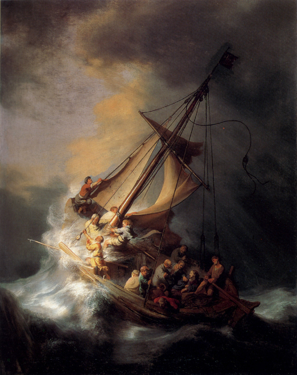 At the height of the storm, at the point where the very lives of his disciples were threatened, where was Jesus?