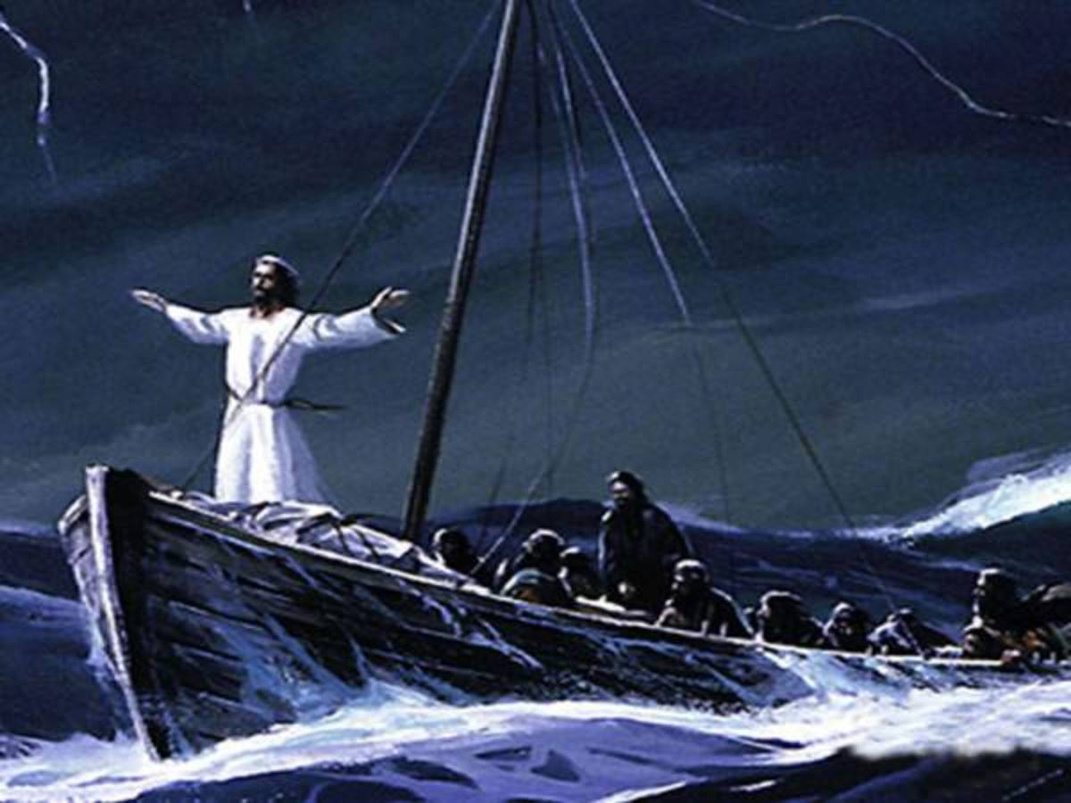 """He woke up and rebuked the wind, and said to the sea, """"Peace! Be still!"""""""