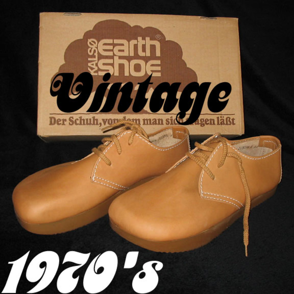 Original Kalso Earth Shoes, circa 1970. Photo from Dressthatman.net