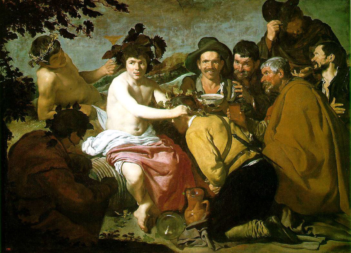 The Feast of Bacchus, 1629 by Velazquez