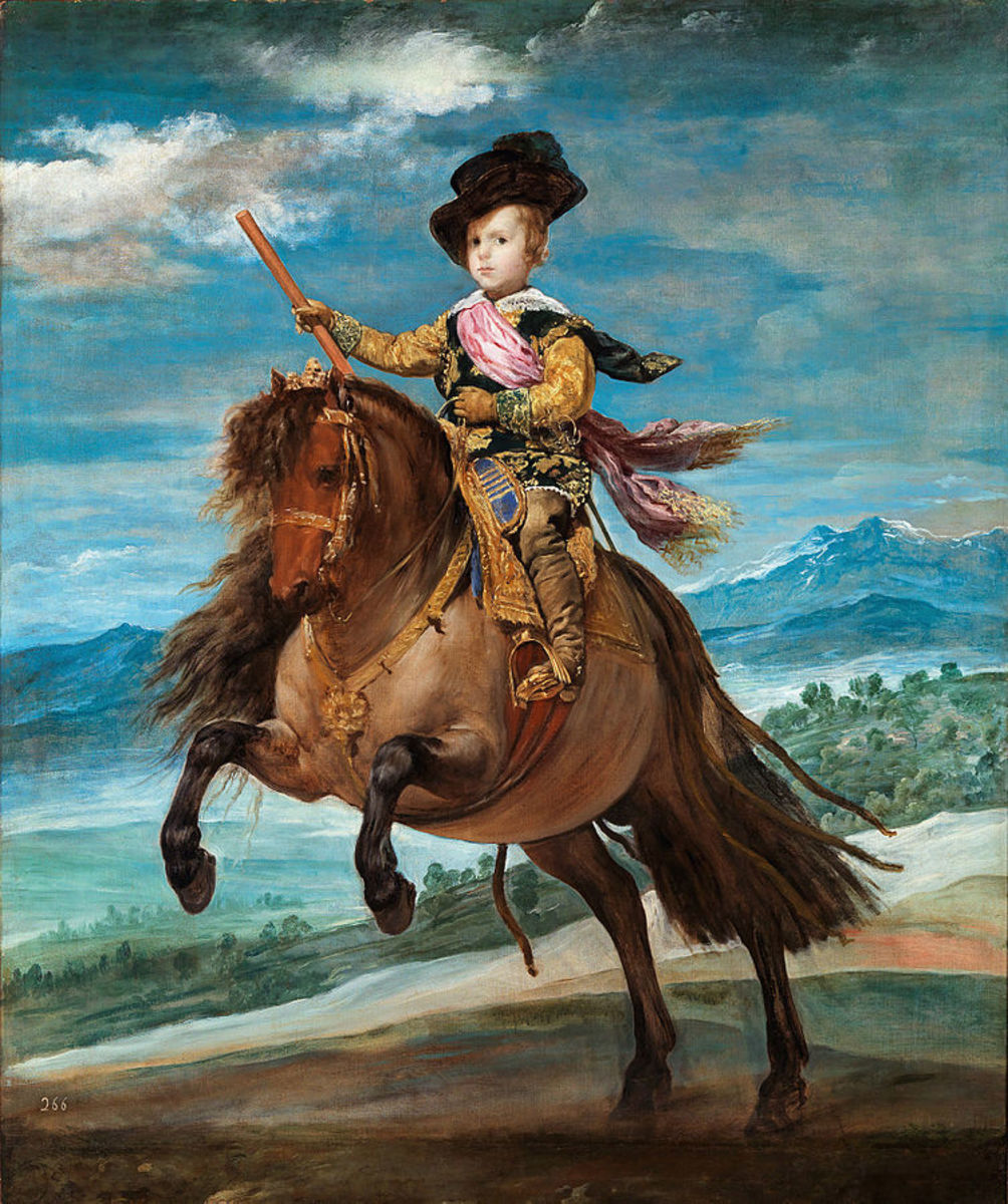Prince Baltasar Carlos, Equestrian - 1634-35 by Velazquez in the Prado Museum