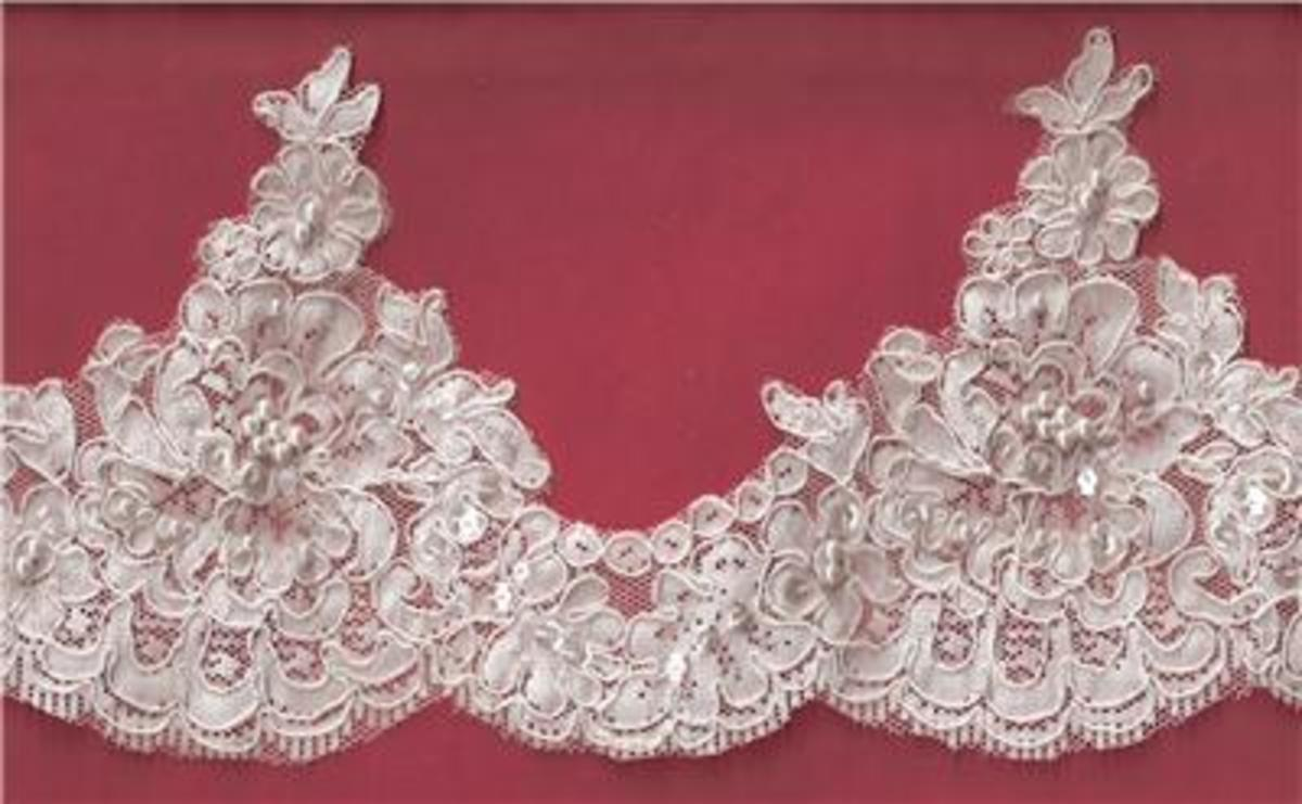 Classic Re-embroidered Alencon Lace