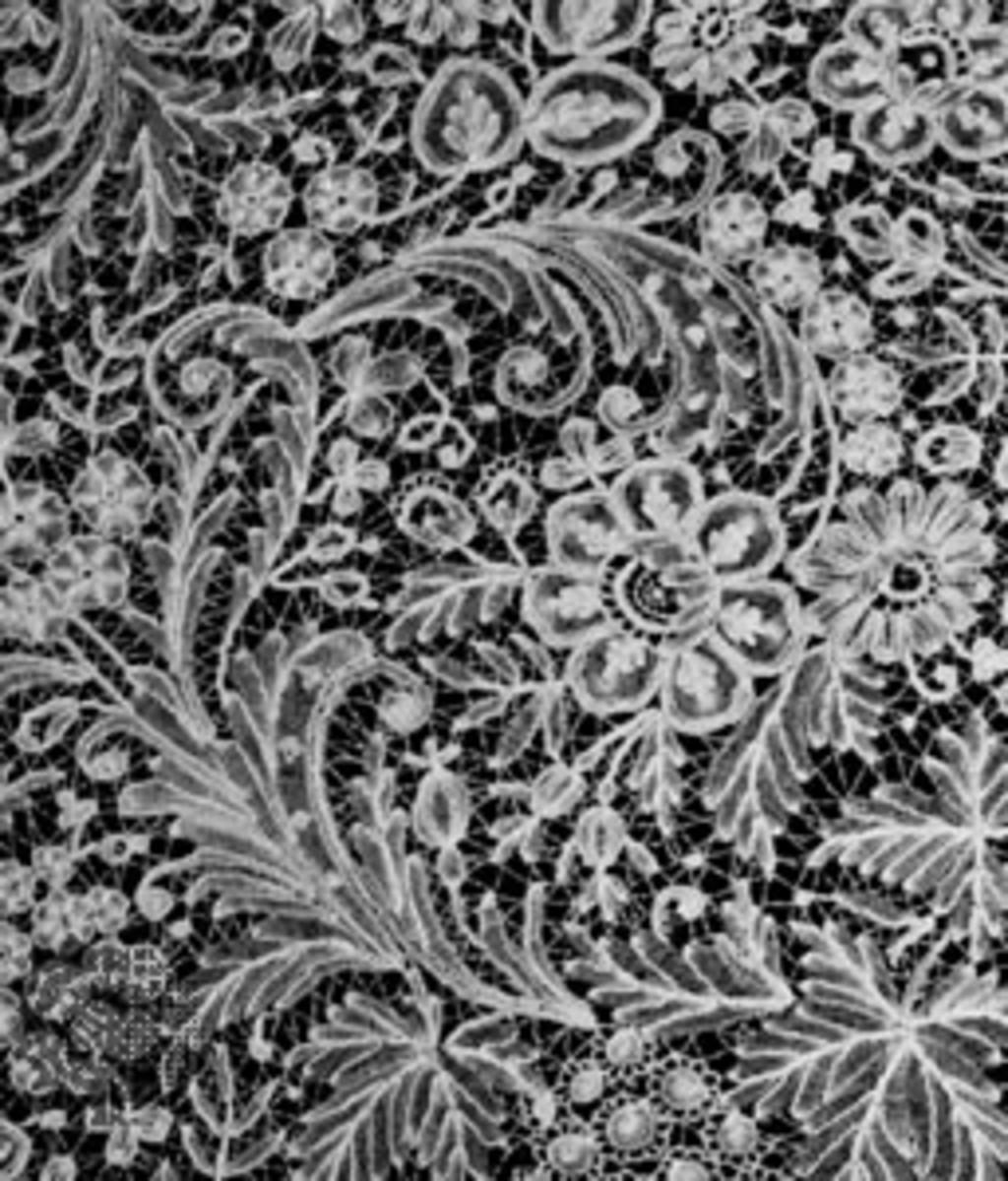 Beautiful Duchesse Needlepoint Bridal Lace