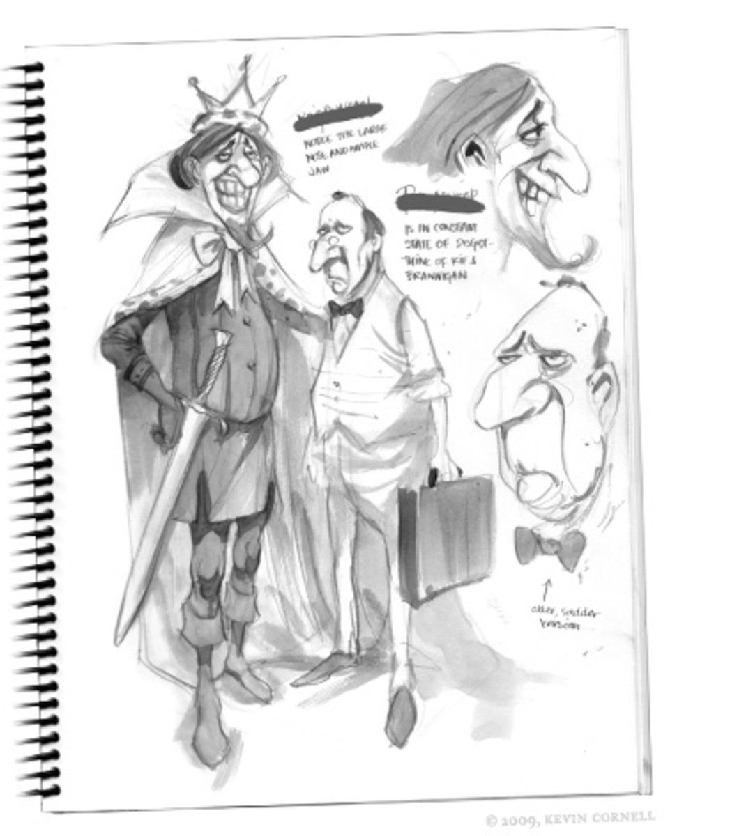 Some form of sketches produced by Concept Artists