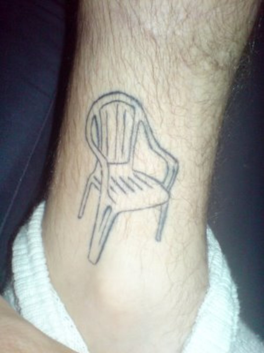 Have you met the guy with the sofa and recliner tat? No? Man, what are the odds you may become friends!