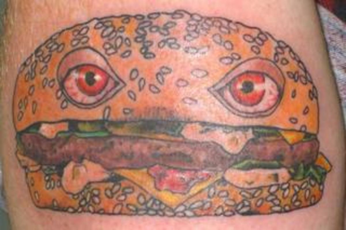Another reason not to get tattooed when you are hungry.