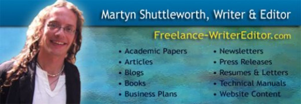 Interested in article writing services - Please visit Freelance Writer Editor