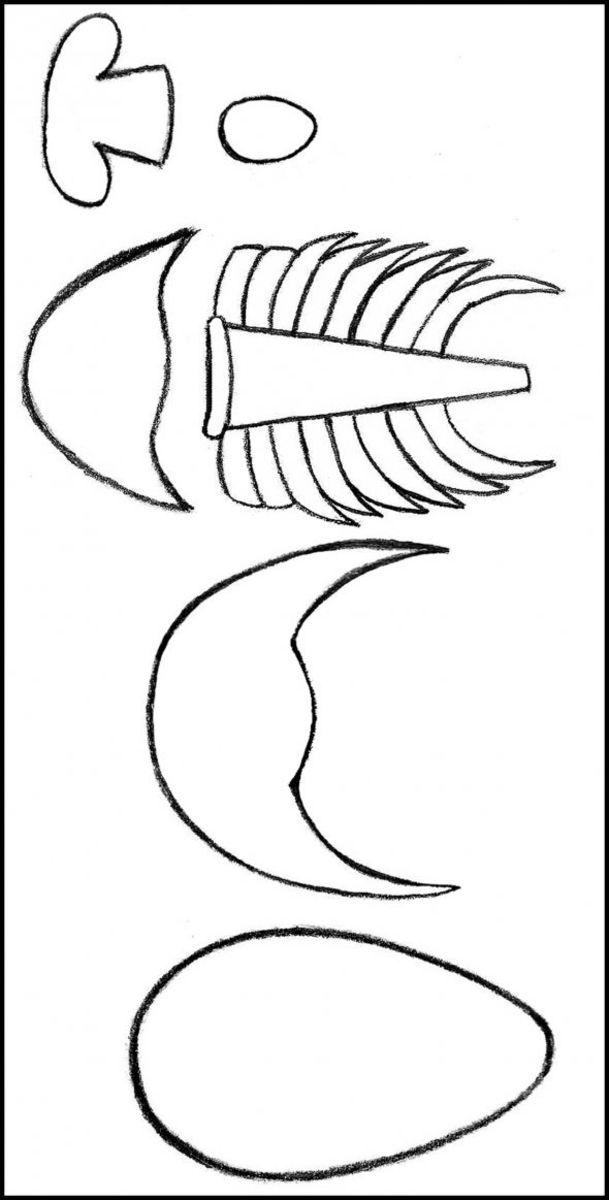 fondant trilobite template by Kylyssa Shay