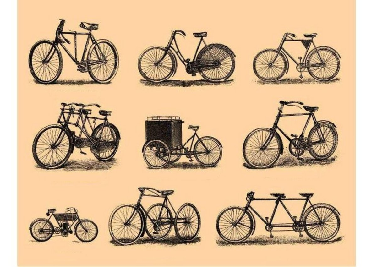 Original Bicycle Designs -Vehicle Transportation Coloring Pages Printable