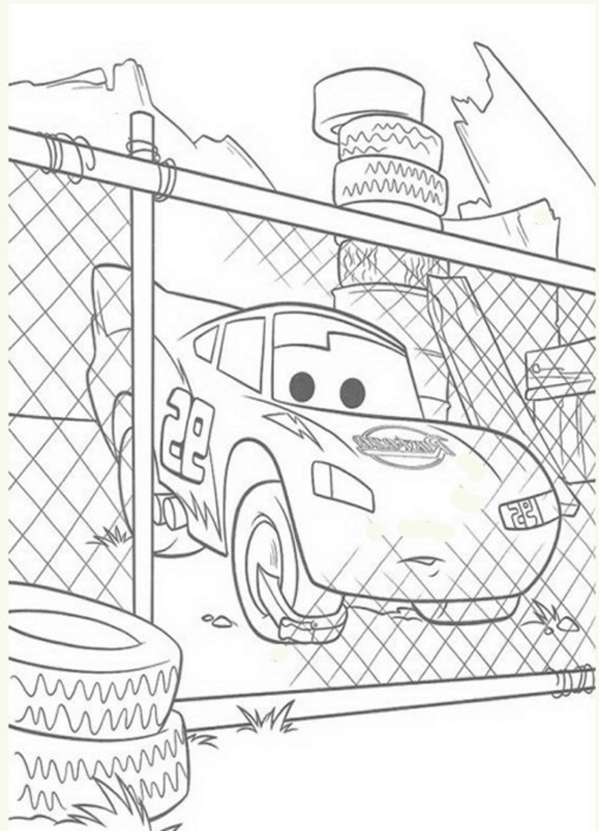 Cars Graveyard Drawing - Vehicle Transportation Coloring Pages Printable