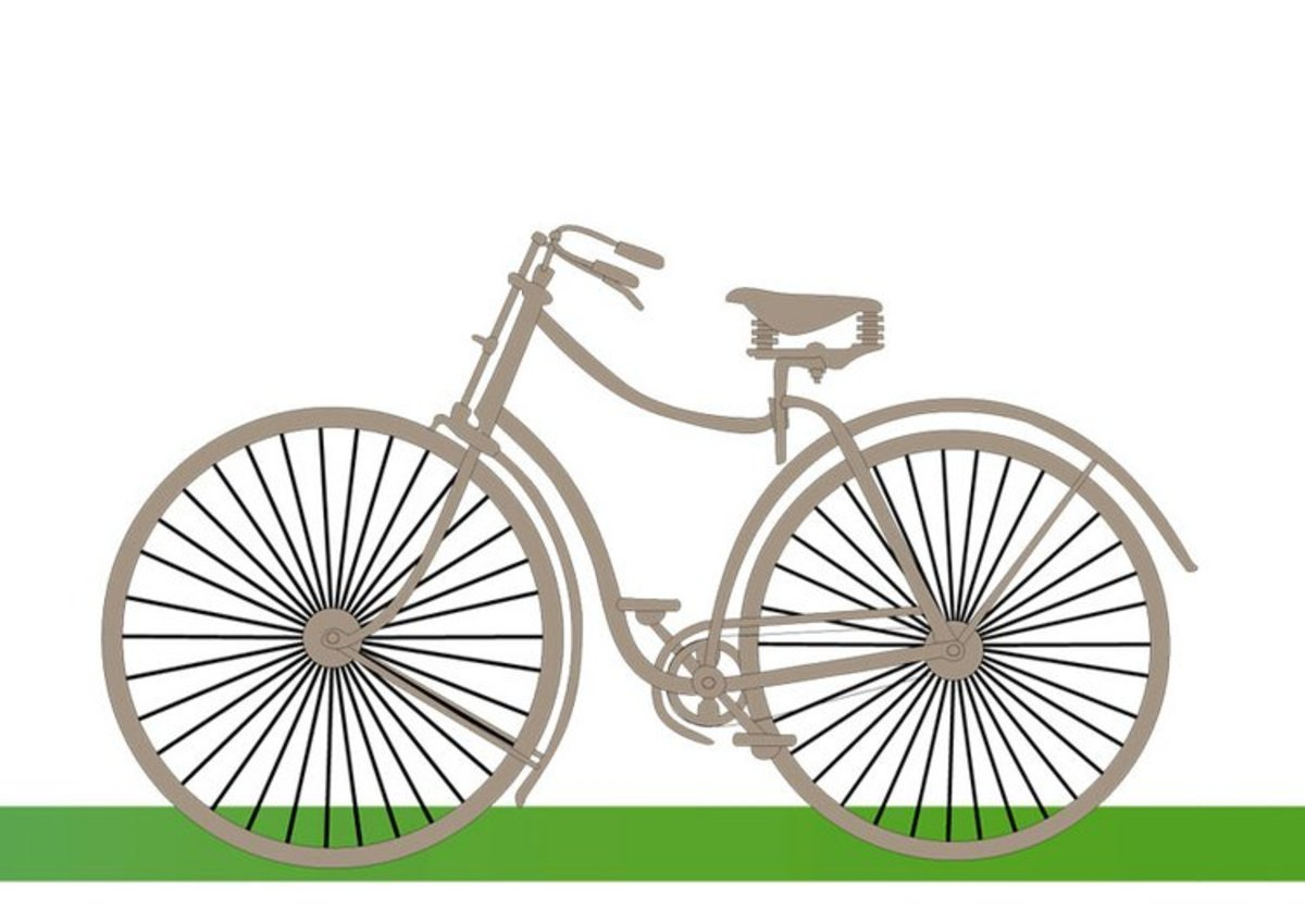 Old Bicycle design - Vehicle Transportation Coloring Pages Printable