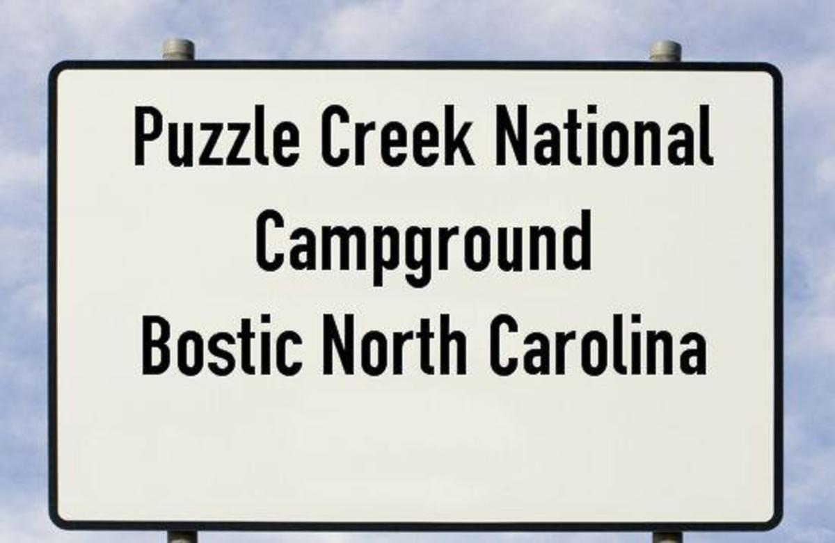 Puzzle Creek National Campground, Bostic North Carolina
