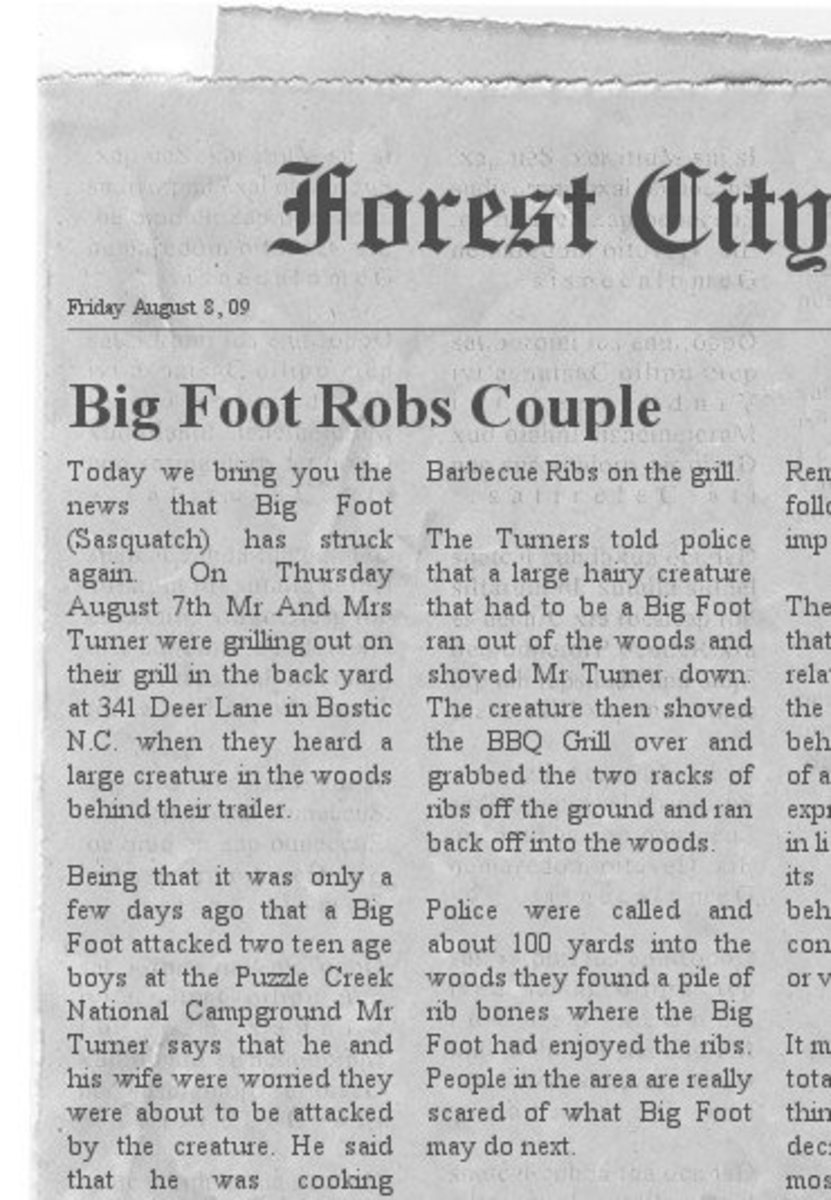 Swamp Ape Robs Couple Of Barbecue Ribs