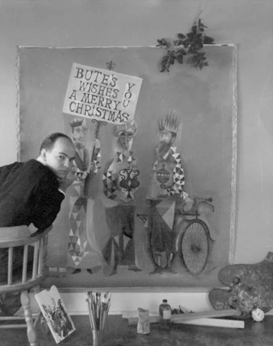 David Adickes in his studio in 1953.