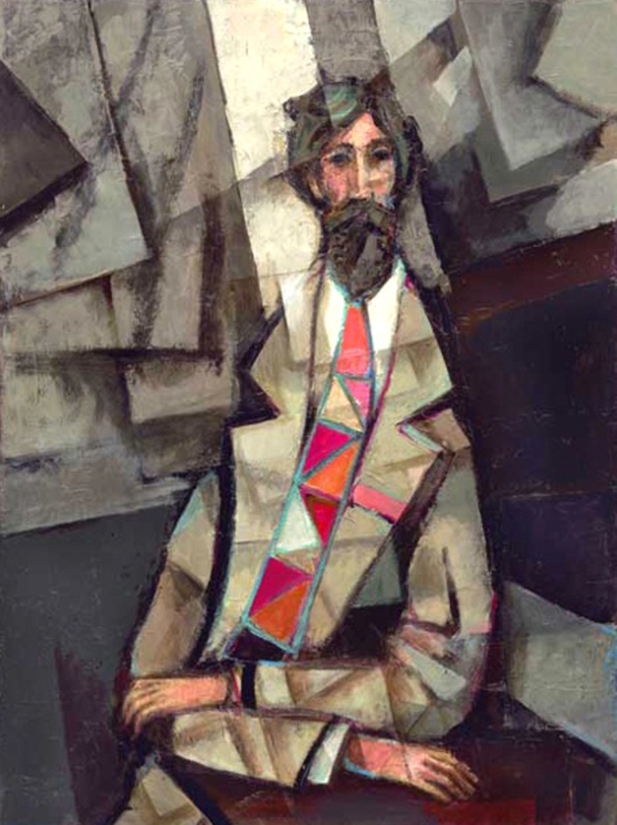 Cubist Philosopher painted in acrylic by David Adickes