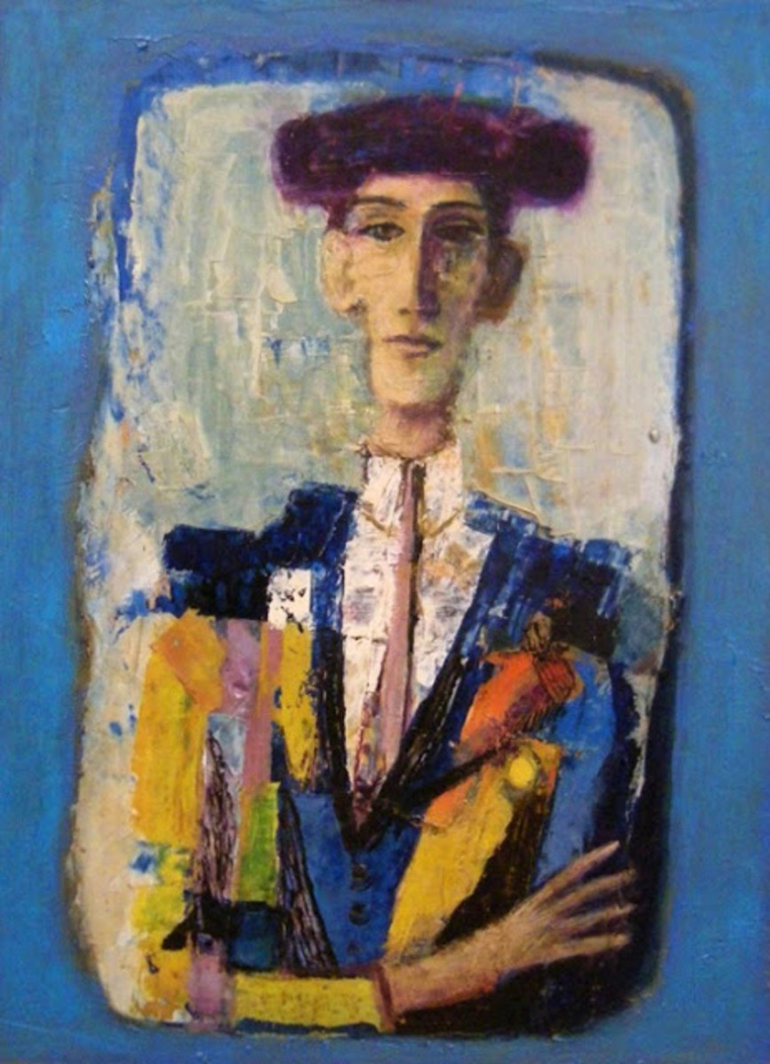 Bullfighter, c. 1965, oil on canvas. William Reeves Fine Art