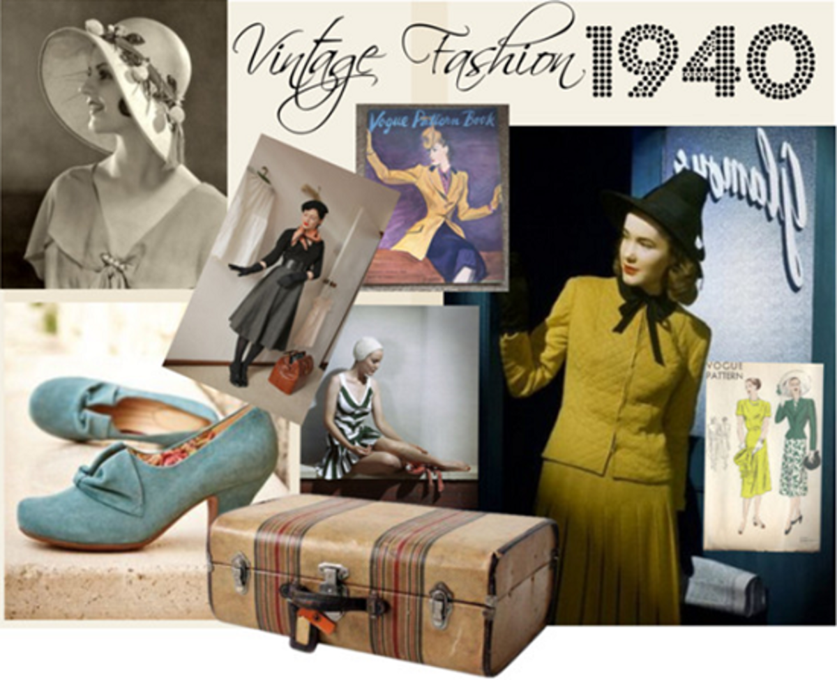 Mid-20th Century Women's Fashion Design: 1940s to 1960s
