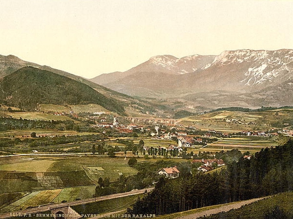 The landscape around Reichenau/Rax ca. 1890.