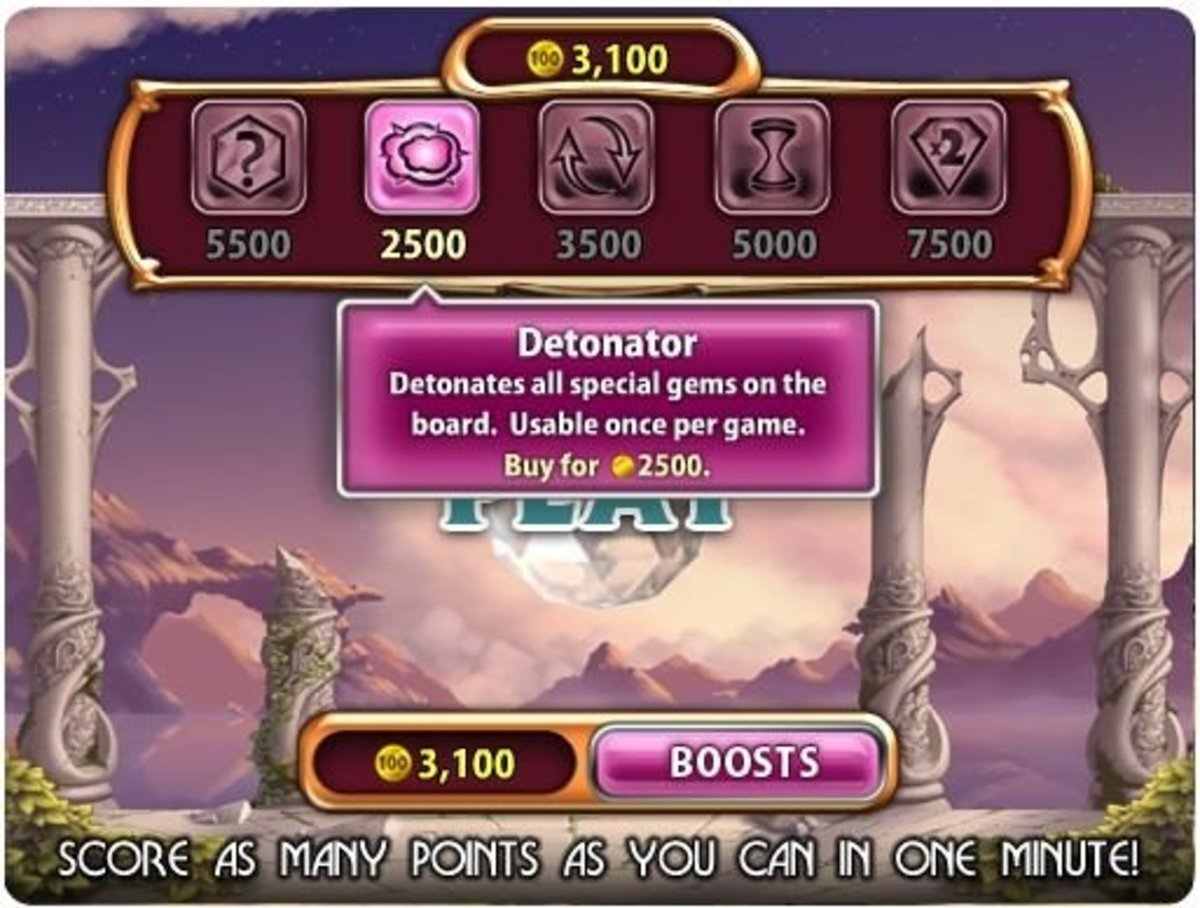 The Bejeweled Boosts you can purchase with Coins in Bejeweled Blitz!