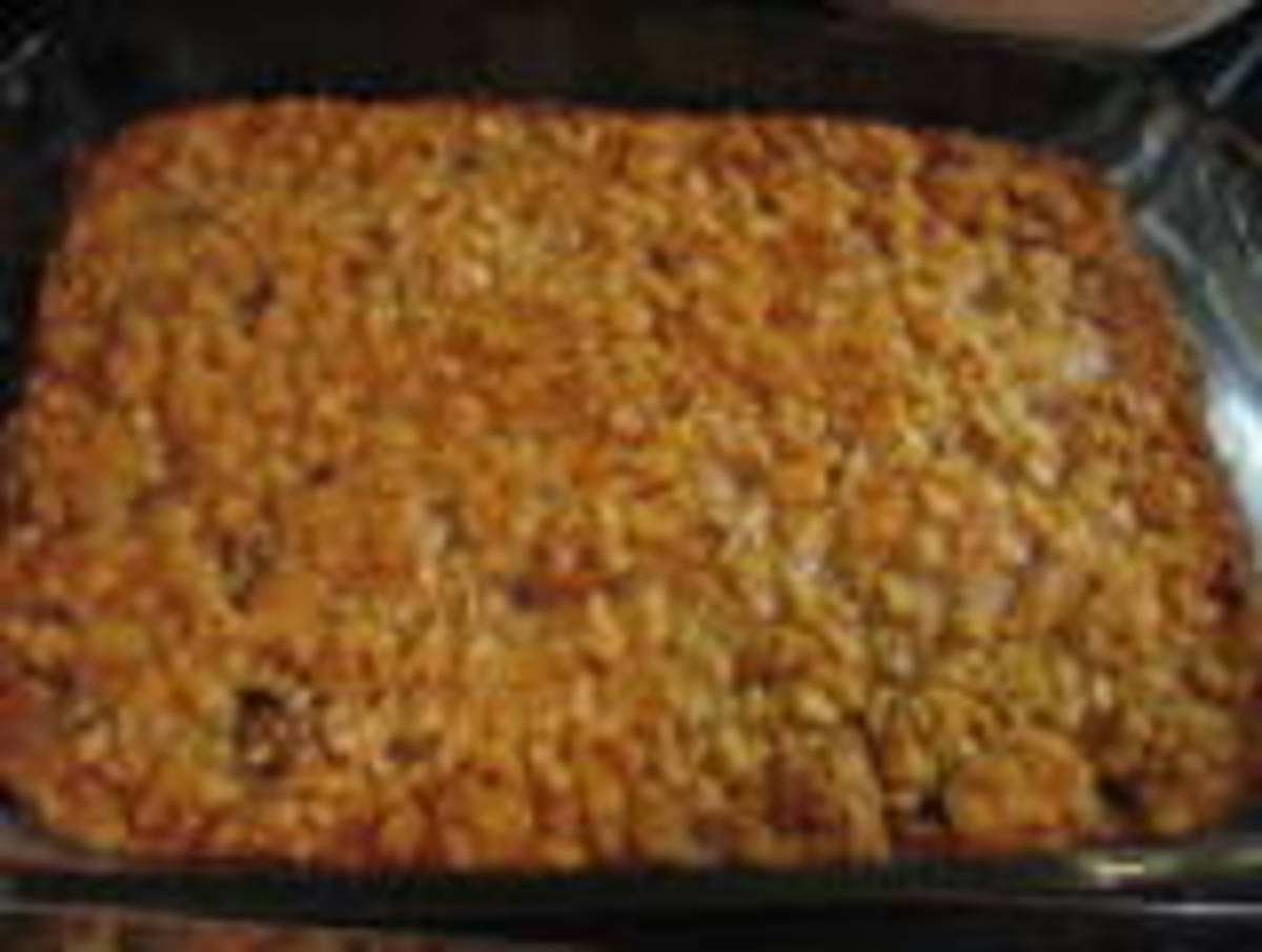 date bars out of the oven ready to cut