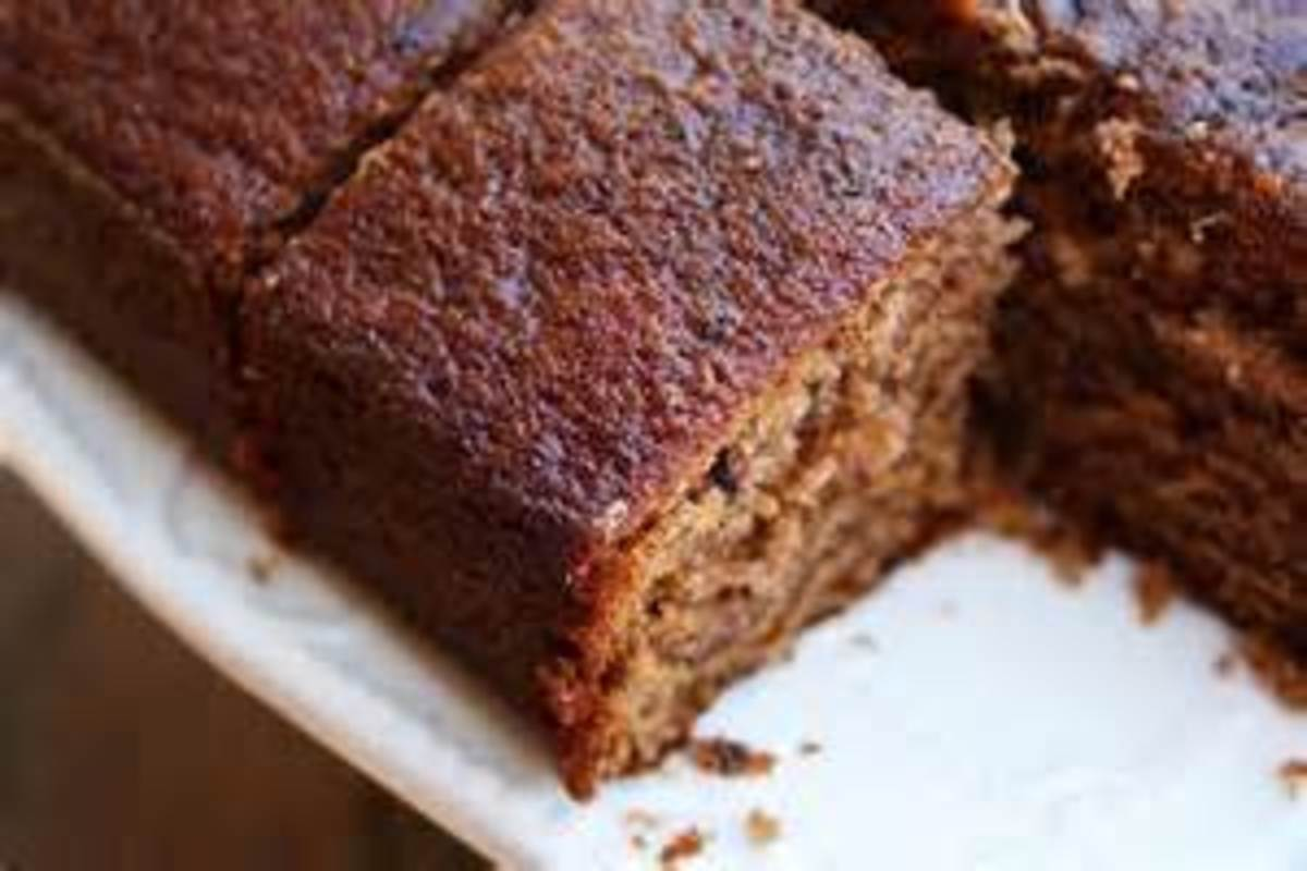 Spice Sheet Cake with Blackberry Jam Swirls