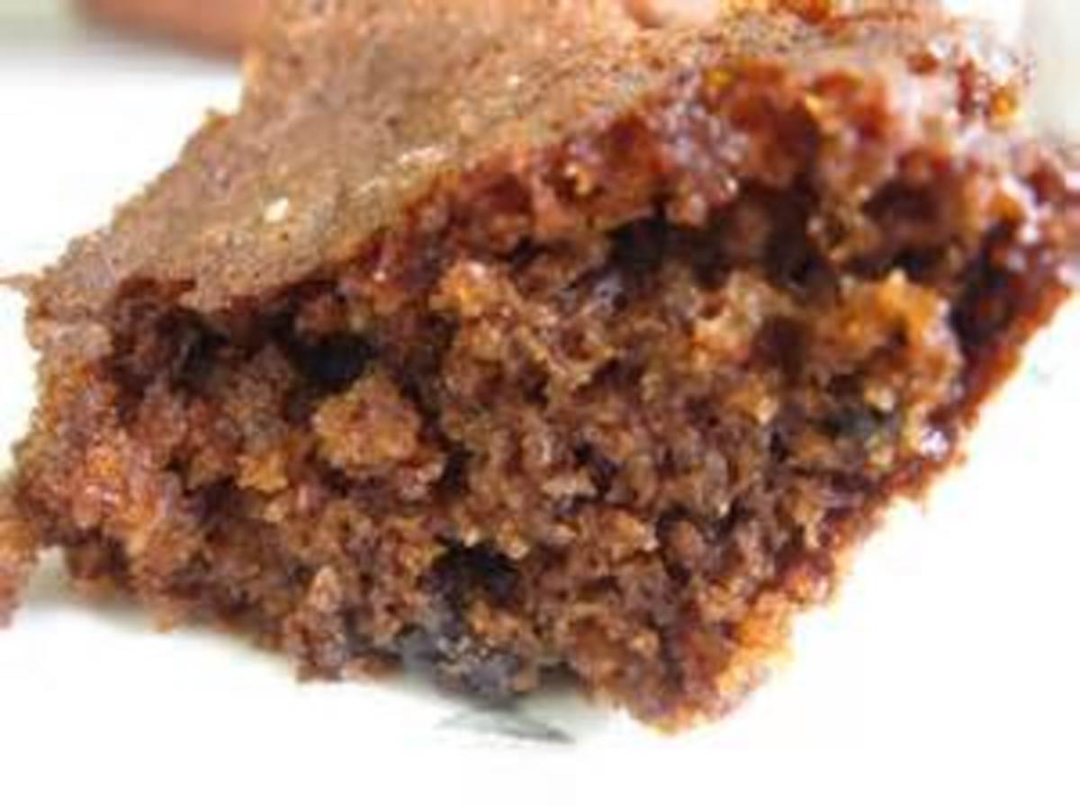Piece of Spice Cake with Blackberry Jame through it