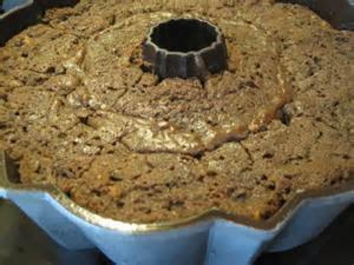 Spice Cake with Blackberry Jam in Bundt Pan