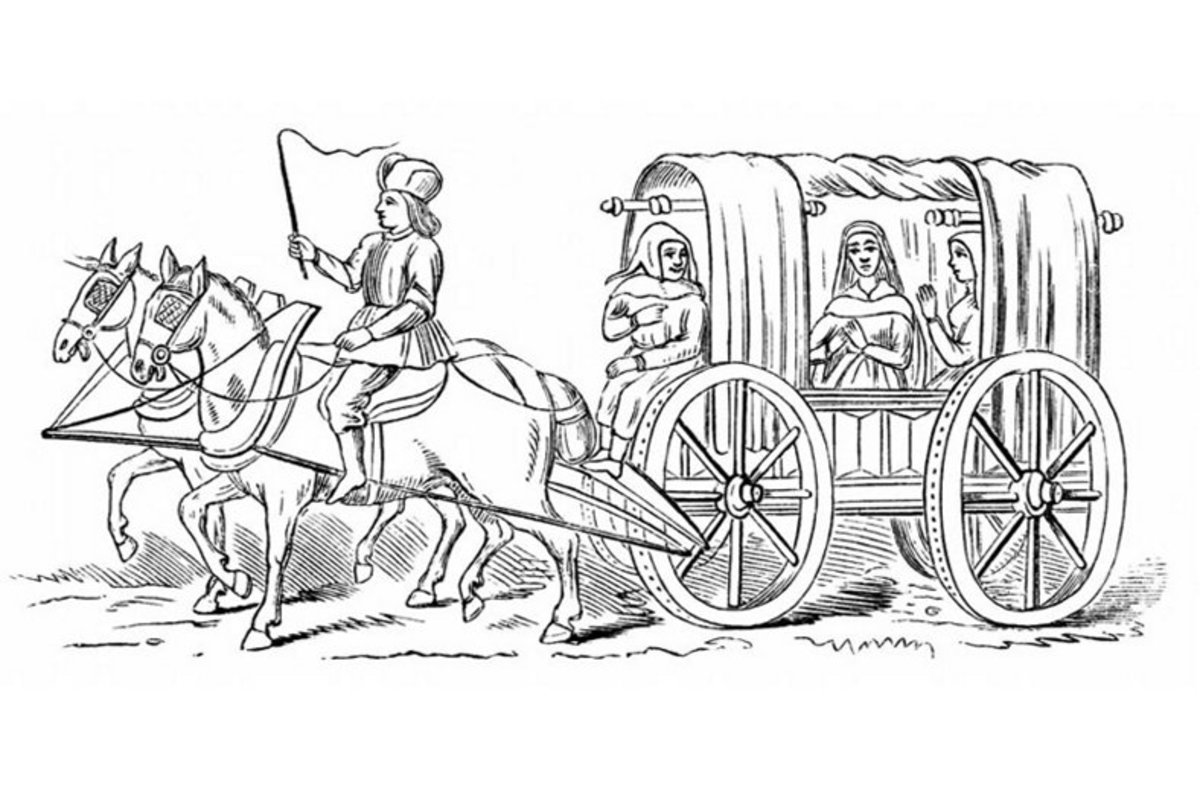 Conestoga Wagon - Vehicle Transportation Coloring Pages Printable