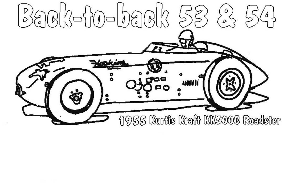 Classic Racer - Vehicle Transportation Coloring Pages Printable