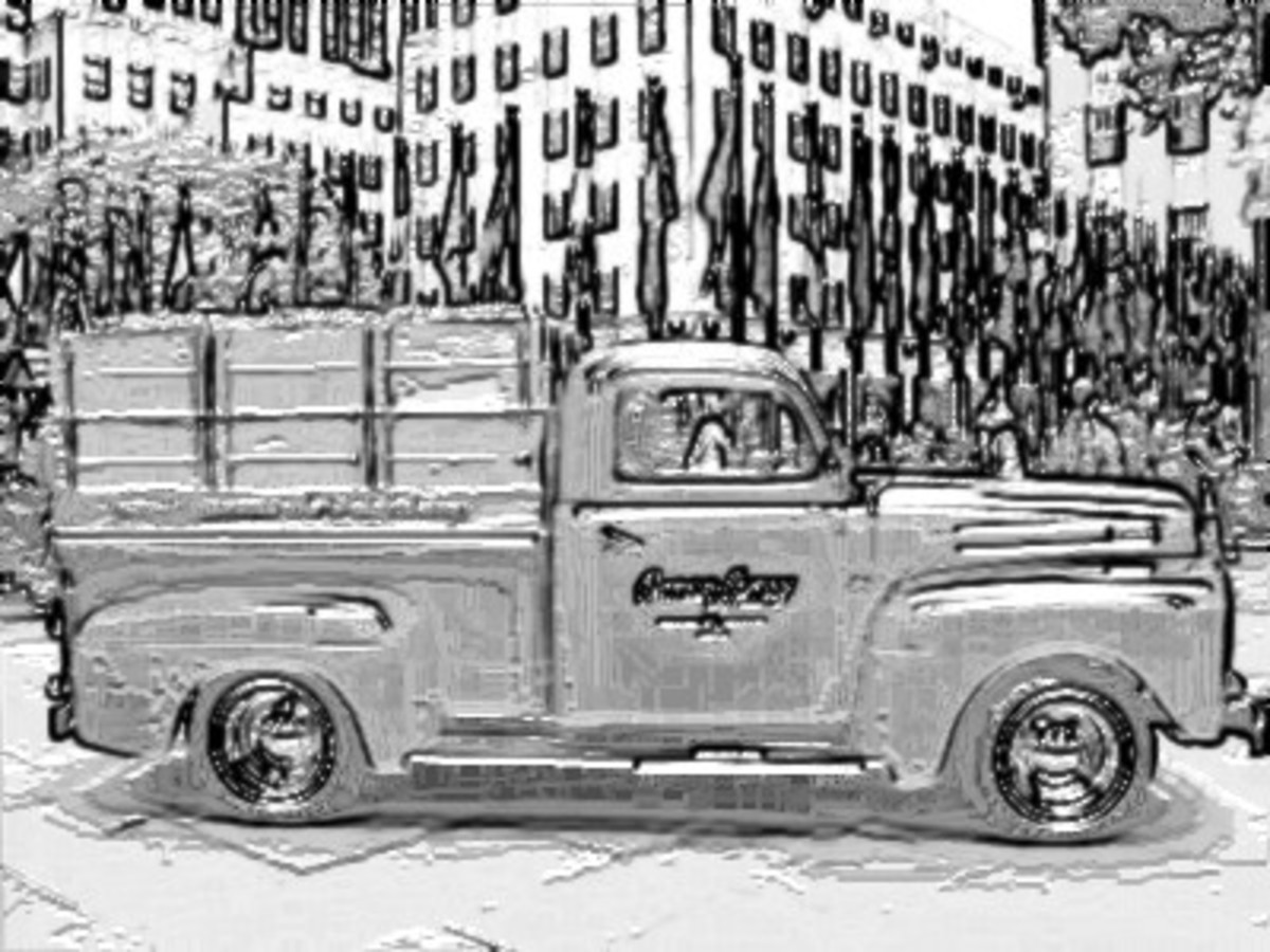 Old Ranch Panel Truck - Vehicle Transportation Coloring Pages Printable