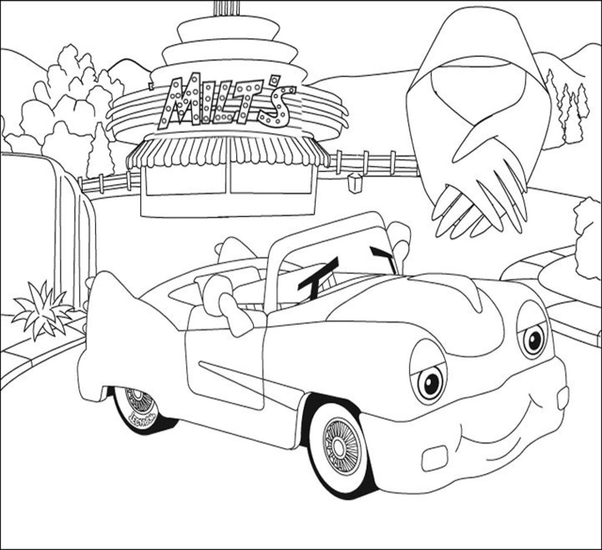 Vehicle Transportation Coloring Pages Printable