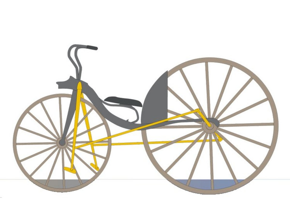 Classic Bicycle - Vehicle Transportation Coloring Pages Printable