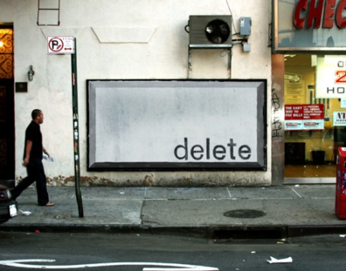Delete Key Billboard - Media Imitating art or is it Art imitating Media - Media today in an extension of ourselves