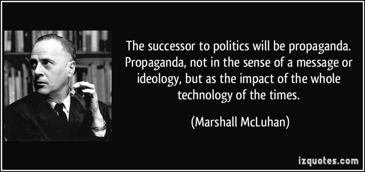 """All media exist to invest our lives with artificial perceptions and arbitrary values.""The new electronic independence re-creates the world in the image of a global village."" ―Marshall McLuhan"