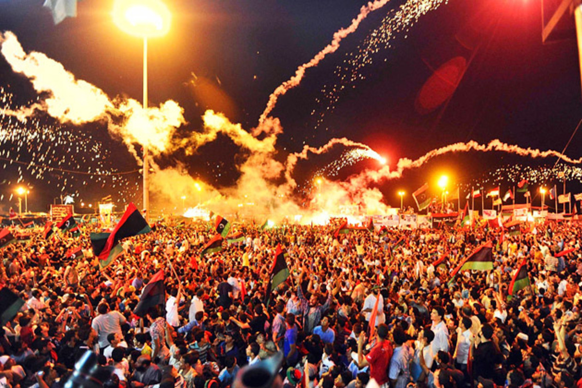 Egyptians celebrate their victory
