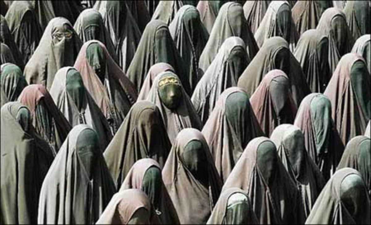 The Faces Of Oppressed Women Under The Taliban and Other Ruthless Islamic Regimes against Women..  In other words, the worst forms of apartheid being practiced by Middle East nations and entities would be studied and exposed first.  Then the aparthei